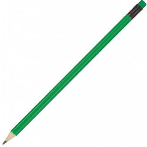 Sharpened Pencil W/Coloured Eraser