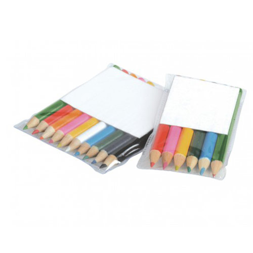 6 Coloured Pencils In Pouch
